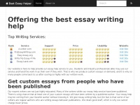 best essay helper You deserve the best custom writing service from us and uk academic writers starting from school and late in college learners receive a lot of new experience, knowledge and face lots of essay assignments.