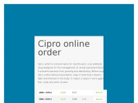 Purchase Cipro Online